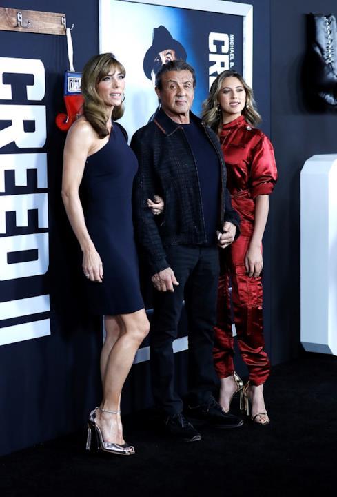 Sylvester Stallone, Jennifer Flavin e SIstine Stallone il 14 novembre a New York