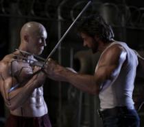 Ryan Reynolds e Hugh Jackman in una scena di X-Men le origini - Wolverine