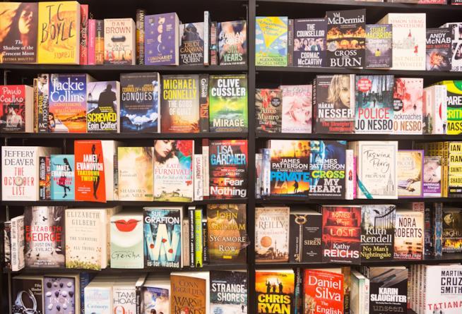 Scaffali di una libreria