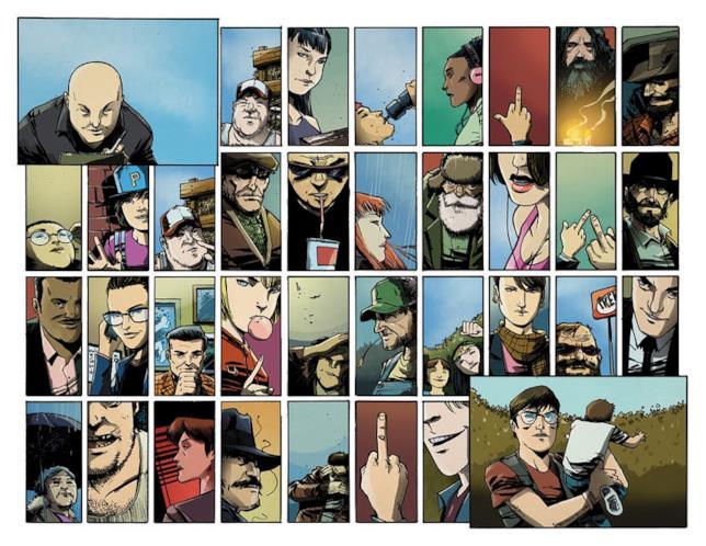 Una sequenza di pannelli ispirati (e con protagonista) Brian Michael Bendis