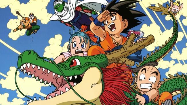 Goku e alcuni dei più celebri protagonisti di Dragon Ball
