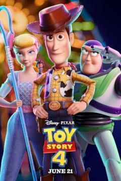 Woody, Buzz e Bo Peep nel poster di Toy Story 4