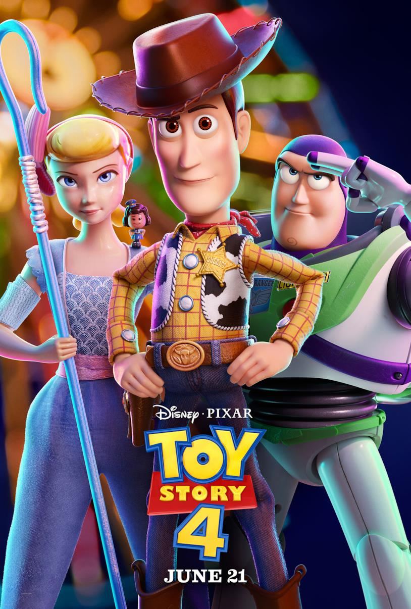 Woody, Buzz e Bo Peep nel poster di Toy Story 4