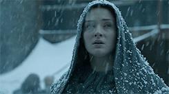Sansa Stark sotto la neve