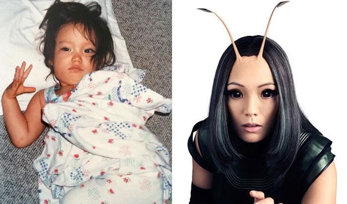 Pom Klementieff (Mantis) da bambina e nei film Marvel