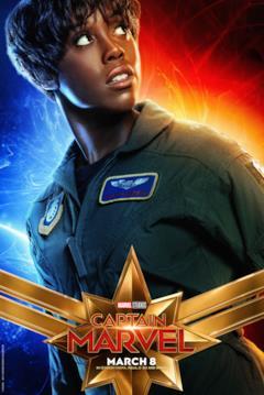 Il character poster di Captain Marvel con Maria Rambeau (Lashana Lynch)