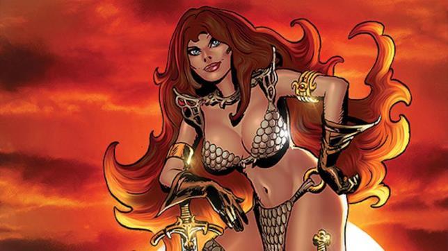 Un'immagine della guerriera Red Sonja