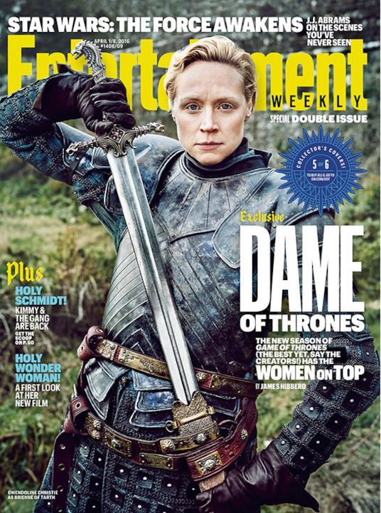 Gwendoline Christie è Brienne of Tarth sulla copertina di EW