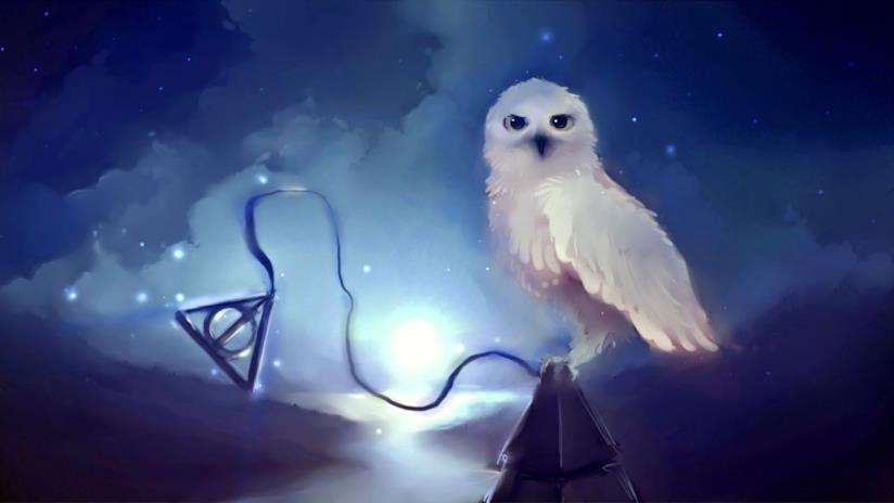 Un artwork di Edvige da Harry Potter: Hogwarts Mystery