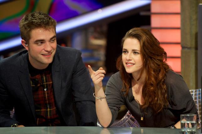 Primo piano di Robert Pattinson e Kristen Stewart