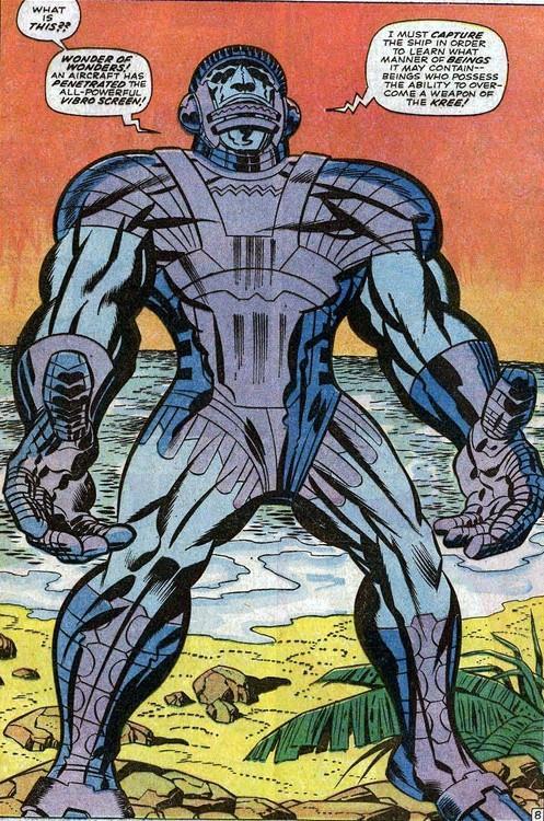 L'immagine del robot antropomorfo dell'Impero Kree