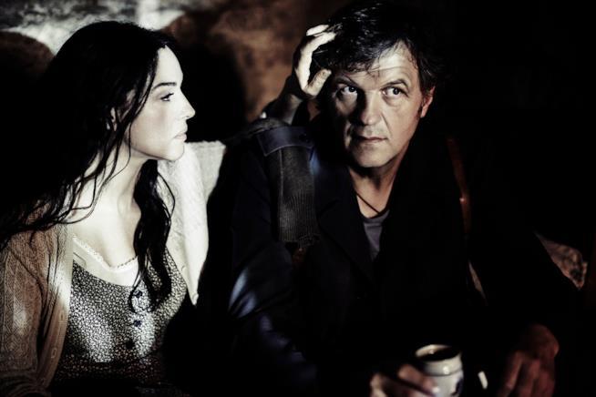 Monica Bellucci ed Emir Kusturica in una scena del film Sulla Via Lattea