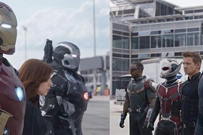 I due team degli Avengers prima dello scontro