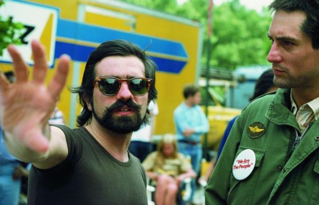Martin Scorsese e Robert De Niro sul set di Taxi Driver