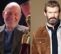 Patrick Stewart e Hugh Jackman sul set di Wolverine 3