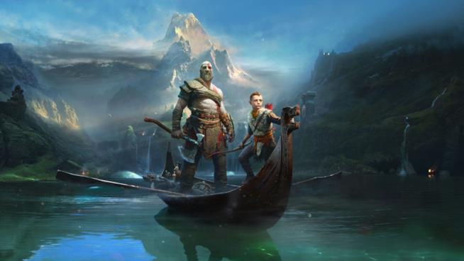 Kratos e il figlio Atreus in un artwork del nuovo God of War