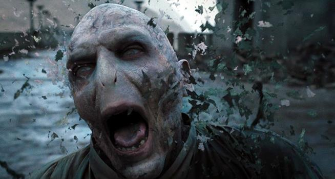 Harry Potter sconfigge Voldemort ne I doni della Morte
