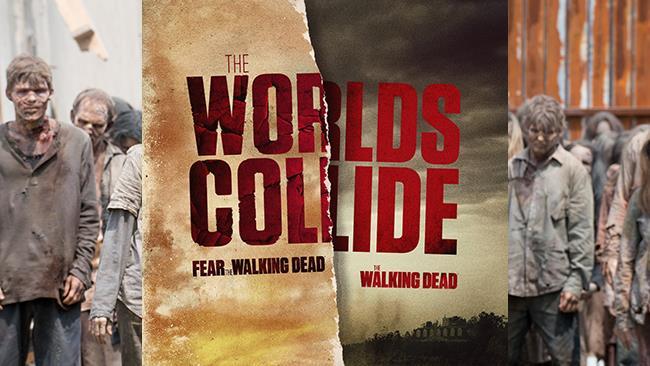 L'immagine del NYCC per annunciare il crossover e gli zombie di TWD