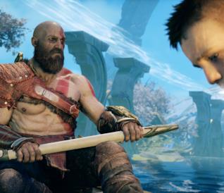 Kratos e Atreus in God of War per PS4