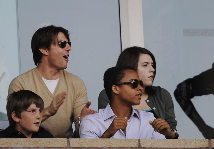 Tom Cruise e i figli Connor e Isabella