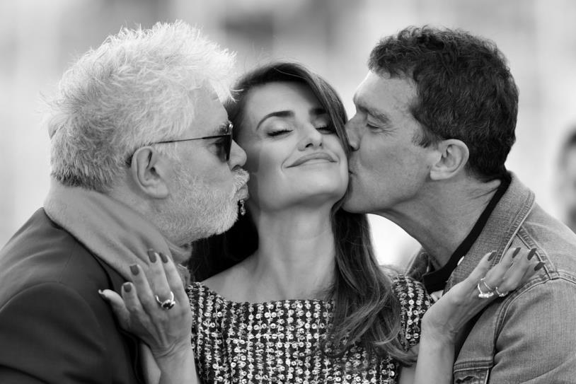 Antonio Banderas Pedro Almodovar Penelope Cruz a Cannes