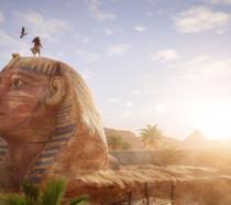 Il protagonista di Assassin's Creed Origins sulla Sfinge
