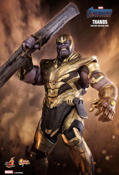 L'action Figure di Thanos da Avengers: Endgame con l'espressione arrabbiata