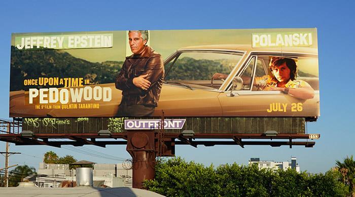 Il poster modificato in modo polemico di C'era una volta a... Hollywood