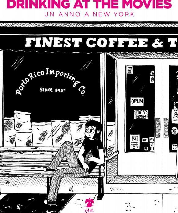 La cover in bianco e never del fumetto di Julia Wertz