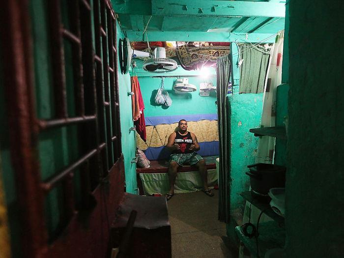 Una cella del Desembargador Raimundo Vidal Pessoa Penitentiary, Manaus, Brasile