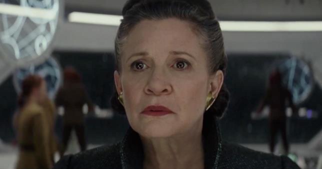 Un frame del nuovo trailer di Star Wars: Gli Ultimi Jedi mostra la Principessa Leia di Carrie Fisher
