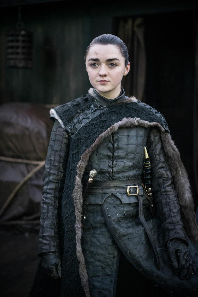 Arya Stark nell'episodio finale di Game of Thrones