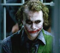 L'attore Heath Ledger nel makeup del Joker