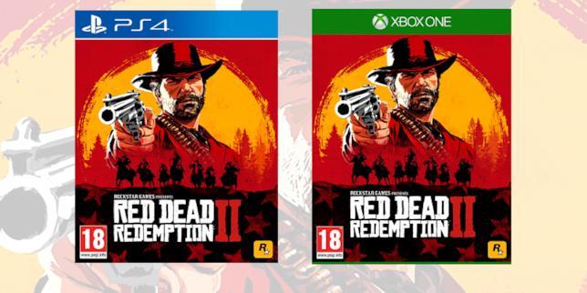 Le boxart di Red Dead Redemption 2 su console