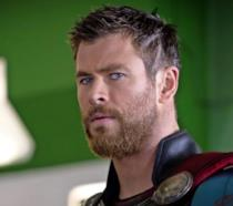 Thor in primo piano in uno dei film