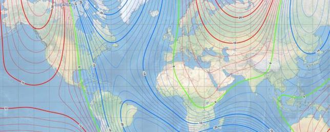 Una rappresentazione del nuovo modello magnetico terrestre