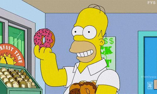 Homer mangia una ciambella
