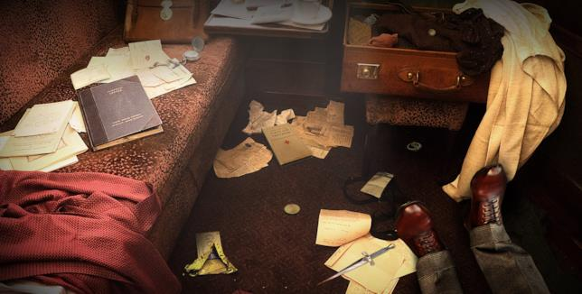 La scena del crimine di Assassinio sull'Orient Express