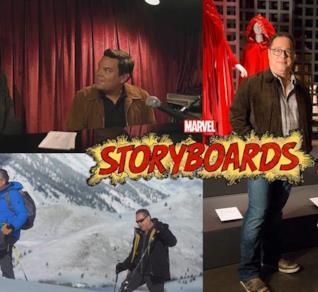 Foto e logo di Marvel Storyboards
