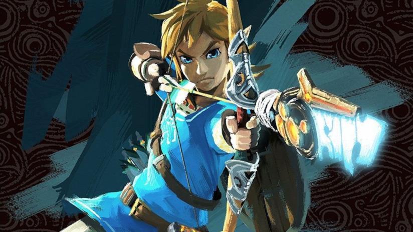 Link scocca una freccia in un artwork di The Legend of Zelda: Breath of the Wild