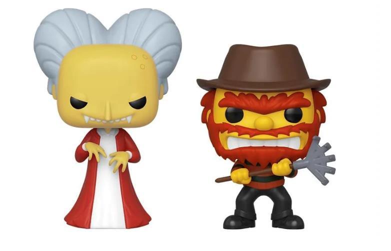 I Funko Pop! di Willie e Burns dagli episodi de La Paura fa Novanta de I Simpson