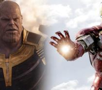 Thanos e Iron Man nel Marvel Cinematic Universe