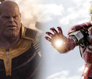 Thanos e Iron Man nel Marvel Cinematic Universe