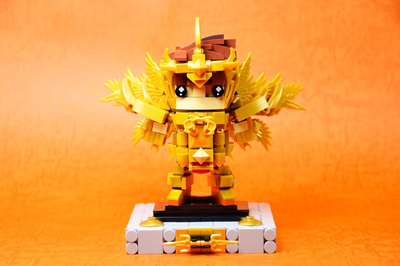 dettagli del set Brickheadz LEGO con Pegasus con l'armatura del Sagittario