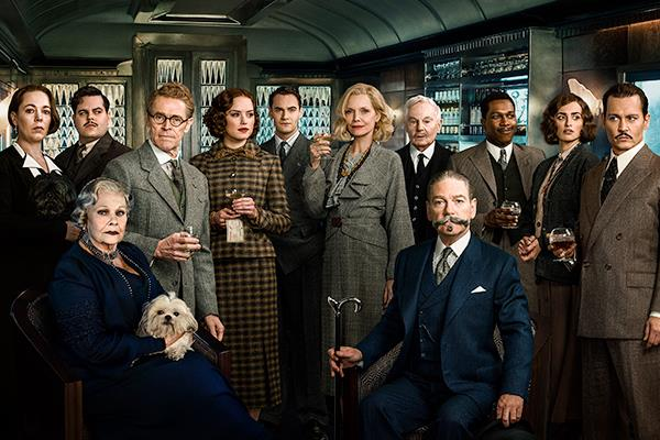 Il cast corale di Assassinio sull'Orient Express