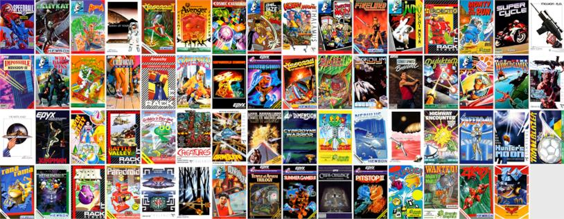 Alcuni giochi presenti nella console THEC64 Mini