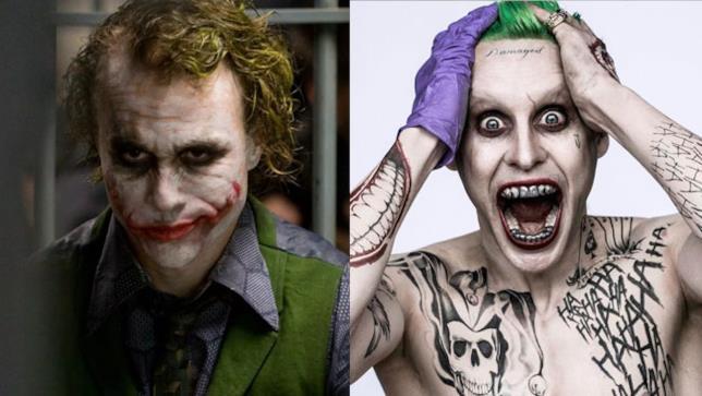 Heath Ledger e Jared Leto intepretano due versioni molto diverse del Joker