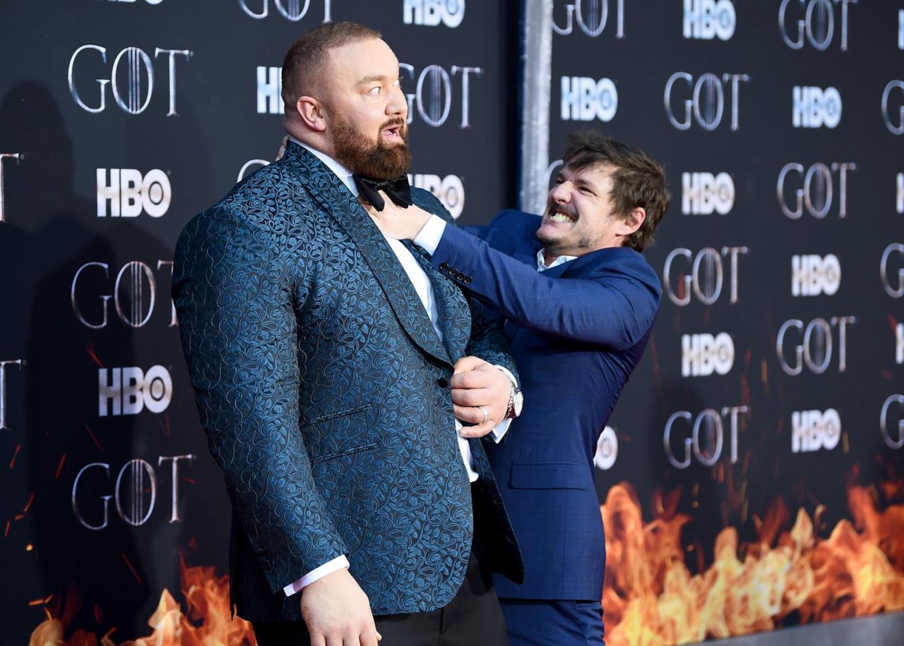 Hafþór Júlíus Björnsson e Pedro Pascal, attori ammirati in Game of Thrones