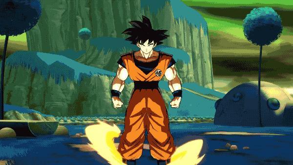 Una GIF di Goku da Dragon Ball FighterZ
