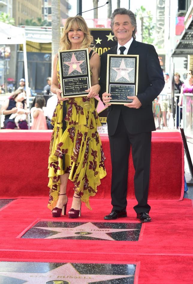 Le stelle ricevute da Kurt Russell e Goldie Hawn sulla Walk of Fame